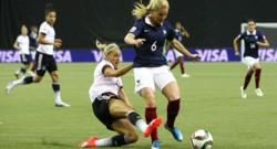 La France joue en quart de finale contre l'Allemagne.