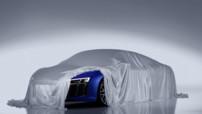 Premier teaser pour la seconde génération de l'Audi R8 qui sera présenté lors du Salon de Genève 2015.