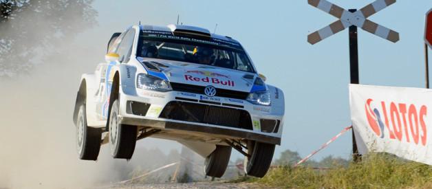 Le pilote norvégien Andreas Mikkelsen au volant de sa Volkswagen.