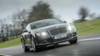 Bentley Continental GT Speed, version 2014 équipé du W12 de 635 chevaux, présenté au Salon de Genève 2014.