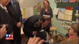 """VIDEO : Hollande : """"je suis le président des bisous"""""""