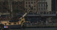 """Etats-Unis : """"L'Hermione"""" est arrivée à New York"""