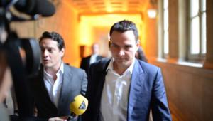 Jérôme Kerviel le 4 juin 2012 à l'ouverture de sonprocès en appel contre la Société Générale