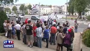 Les Bonnets rouges à Nantes réclament une réunification de la Bretagne