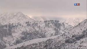 Neige et froid polaire en Corse le 1er février 2012