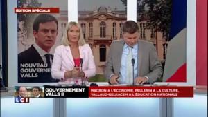 """Valls II : """"La mauvaise surprise de ce gouvernement est la nomination de Macron"""" affirme Florian Philippot"""