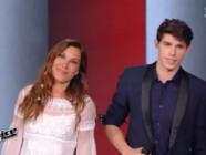 Zazie et Lilian pendant la finale de The Voice