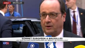 """Hollande sur le Brexit: """"On ne peut pas empêcher l'Europe d'avancer"""""""