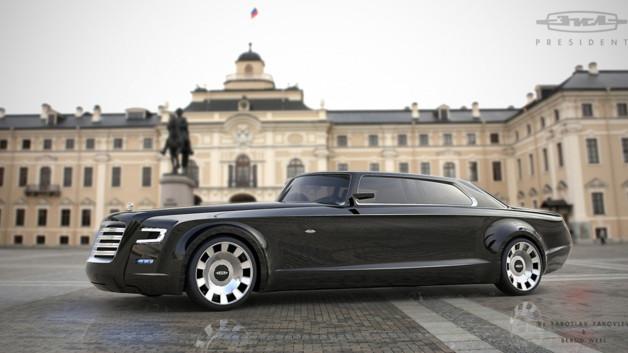 Projet de future voiture pour le président russe, Vladimir Poutine, par deux designers en 2013