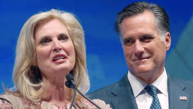 Ann Romney et Mitt Romney, le 13 avril 2012, à Saint-Louis
