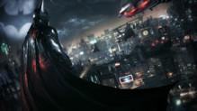 Batman regardant de loin la ville de Gotham.