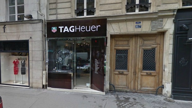 Boutique Tag Heuer à Paris, boulevard Saint Germain