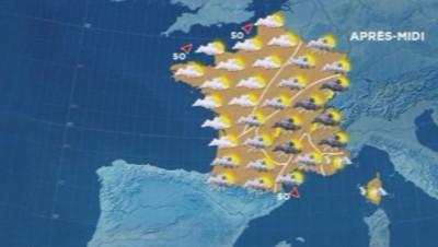 Carte météo 29 août