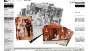 Images inédites du mariage du Prince Charles et de Diana sur le site de RR Auction.