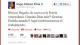 Hugo Chavez annonce son retour au Venezuela