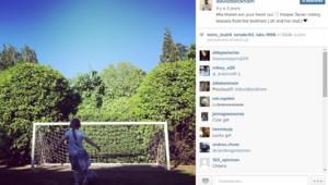 David Beckham a posté une photo de sa fille Harper en train de jouer au foot.