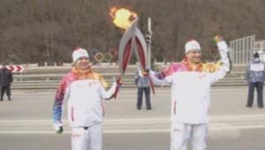 Flamme olympique à Sotchi
