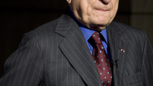 Pierre Berge chez Christie's à Paris, le 26 septembre 2008.