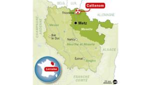 Carte de situation de la centrale de Cattenom en Moselle