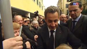 Le 20 heures du 10 mars 2014 : A Nice, Sarkozy garde le silence sur ses tourments judiciaires - 5.47