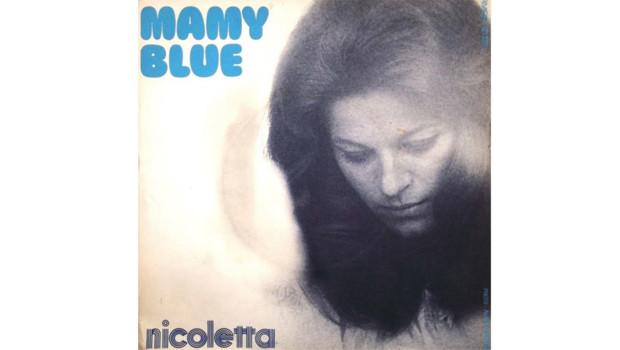 La pochette du 45T de Mamy Blue par Nicoletta