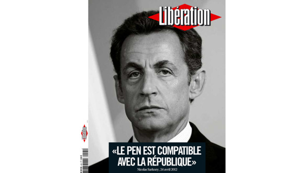 La Une du quotidien Liberation du 25 avril 2012