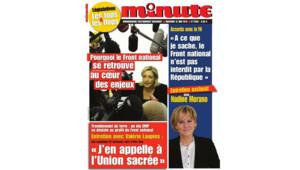 Nadine Morano en couverture de Minute.