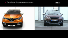 Peugeot 2008 Renault Captur Sujet Plein Phare Automoto 2013