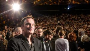 Quentin Tarantino à Lyon pour le Festival Lumière le 15 octobre 2013