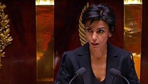 Rachida Dati à la tribune de l'Assemblée nationale, le 15 novembre 2007