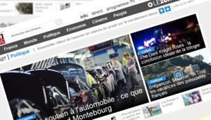 Une page d'accueil de TF1 News dans sa version de juillet 2012