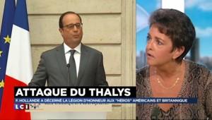 """Attaque du Thalys : """"Ce qui est notable, c'est le changement de langage de Hollande"""""""