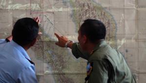 L'armée de l'air indonésienne participe aux recherches pour retrouver le Boeing de la Malaysia Airlines disparu des écrans radar samedi 8 mars 2014.