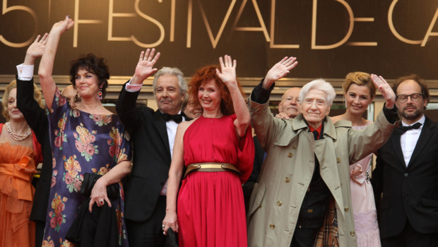 Monte des marches Festival de Cannes 21 mai Sabine Azma, Alain Resnais, Anny Duperey, Denis Podalyds, Anne Consigny, Pierre Arditi