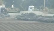 Les chars israéliens à la frontière de Gaza, le 21 janvier 2009