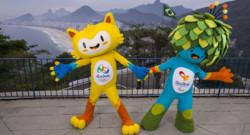 Les deux mascottes des JO de Rio 2016