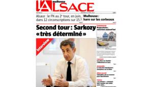 """Nicolas Sarkozy interviewé dans """"L'Alsace"""" (25 avril 2012)"""