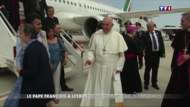 """""""Nous sommes tous des migrants"""", à Lesbos le Pape François veut montrer l'exemple"""