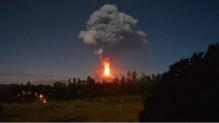 villarica erpution volcan