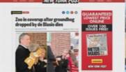 """Une du New York Post sur Bill de Blasio et """"le scandale de la marmotte"""""""
