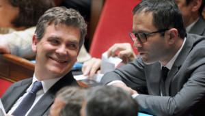 Arnaud Montebourg et Benoît Hamon en juin 2014 à l'Assemblée nationale