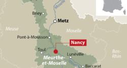 Carte de la Meurthe-et-Moselle avec Nancy, la préfecture