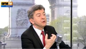 Jean-Luc Melenchon sur BFM TV le 3 mai.