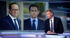 """Le 13 heures du 18 septembre 2014 : Conf�nce de presse : Hollande """"rattrap�ar deux anciens adversaires, la finance et Sarkozy"""" - 645.0722836608886"""