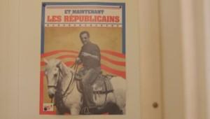 L'affiche du PS mettant en scène Nicolas Sarkozy.