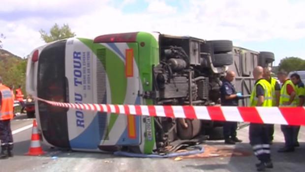 Accident meurtrier d'autocar sur l'A8 (2 septembre 2012)