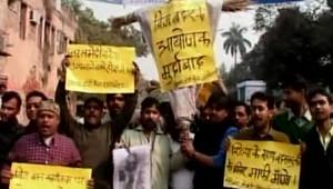 Des Indiens manifestent pour soutenir la candidate insultée dans l'émission de télé-réalité Big Brother