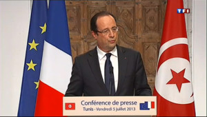 """Le 20 heures du 5 juillet 2013 : Sarkozy quitte le Conseil constitutionnel : Hollande appelle au """"respect"""" des institutions - 1190.99"""