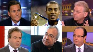 Voici 6 des 11 personnalités qui composent l'équipe de commentateurs de LCI à l'occasion de la Coupe du monde 2010.