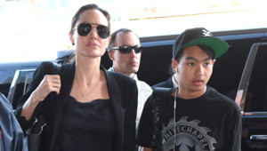 Angelina Jolie et son fils Maddox à New York le 25 avril 2015.